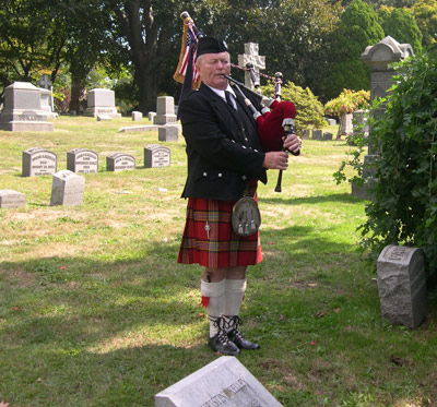 Funeral bagpipes